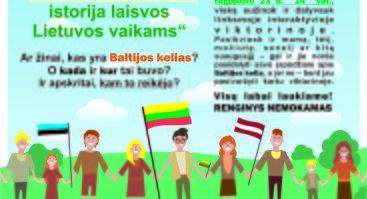 Baltijos kelio istorija laisvos Lietuvos vaikams