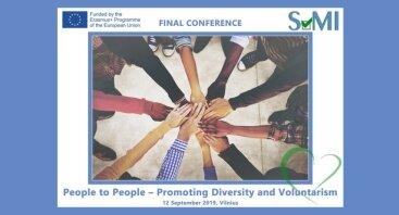 """Tarptautinė konferencija """"People to People - Promoting Diversity and Voluntarism"""""""