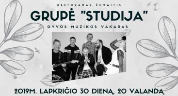 """Muzikinis vakaras su grupe """"Studija"""""""