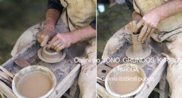 Dailininko Jono Grundos kūrybos paroda, pažintis su puodo žiedimu
