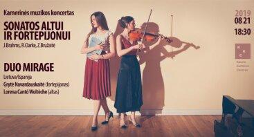 Kamerinės muzikos koncertas  SONATOS ALTUI IR FORTEPIJONUI