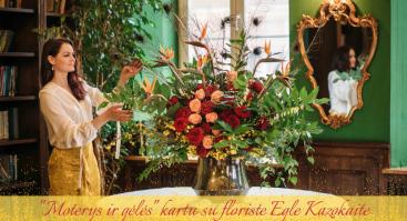 """Vakaronė """"Moterys ir gėlės"""" kartu su floriste Egle Kazokaite"""