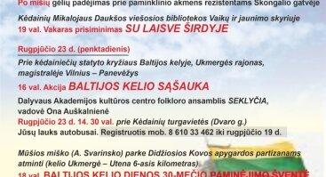 BALTIJOS KELIO DIENOS 30-METIS