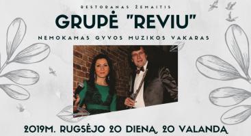 """Nemokamas muzikinis vakaras su grupe """"Reviu"""""""