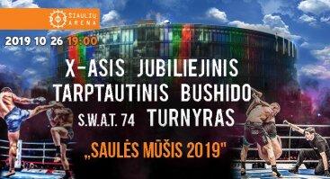 """X -asis jubiliejinis tarptautinis bushido turnyras """"Saulės mūšis 2019"""""""