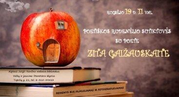 Poetiškos rudenėlio sutiktuvės su poete Zita Gaižauskaite