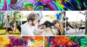 """Vakaras šeimai """"Šuns ir spalvų ritmu"""""""