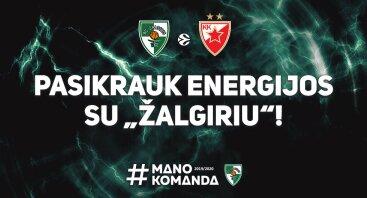 """Kauno """"Žalgiris"""" - Belgrado """"Crvena Zvezda"""""""
