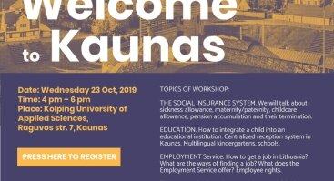 "Workshop ""Welcome to Kaunas"""