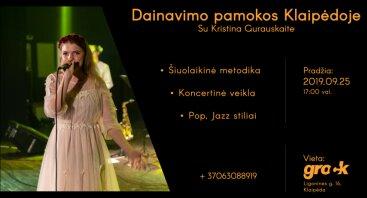 Dainavimo pamokos Klaipėdoje