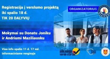 "Verslumo projektas  ""Sėkmingo verslo startas""| Verslumo mokymai"