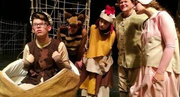 """Jaunimo teatras """"Be durų"""".   Muzikinis spektaklis vaikams """"Paslaptingas radinys"""""""