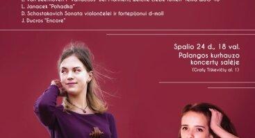 """Koncertų ciklas """"Muzikos vakarai kurhauze"""".  Vera Nebylova (violončelė, Rusija) ir Simona Zajančauskaitė (fortepijonas, Lietuva)"""