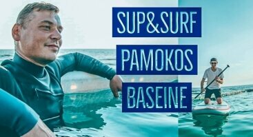 Sup & Surf pamokos baseine