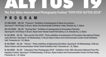 "2nd Alytus International Photography Festival   ""FOTO FEST ALYTUS 2019"""