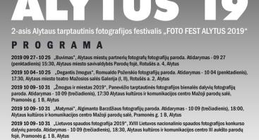 "2-ASIS ALYTAUS TARPTAUTINIS FOTOGRAFIJOS FESTIVALIS ""FOTO FEST ALYTUS 2019"""
