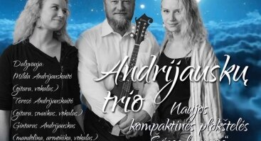 Bardai tarp žvaigždžių: Andrijauskų trio|cd pristatymas
