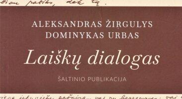"""Knygos """"Laiškų dialogas"""" pristatymas"""