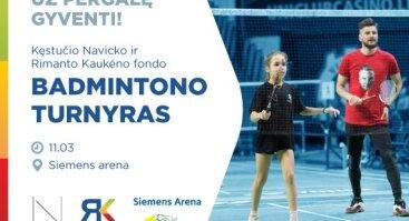 """Ketvirtasis labdaringas badmintono turnyras """"Už pergalę gyventi"""""""