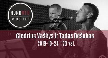 Akustinis Giedriaus Vaškio ir Tado Dešuko koncertas