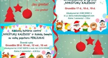 """""""Nykštukų Kalėdos"""" ir Kalėdų Senelis su vaikų popchoru PERLIUKAI"""