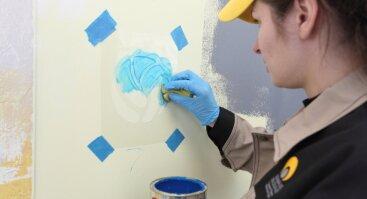 Praktiniai vidaus patalpų dažymo mokymai