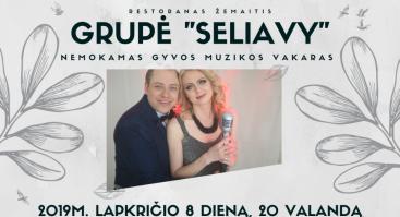 """Nemokamas gyvos muzikos vakaras su grupe """"Seliavy"""""""