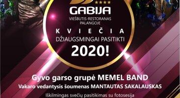 """Viešbutis  – restoranas """"Gabija"""" kviečia džiaugsmingai pasitikti 2020-uosius Palangoje!"""