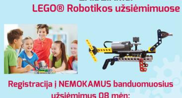 Bricks4kidz LEGO robotikos nemokami bandomieji užsiėmimai