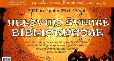 Helovino šventė bibliotekoje