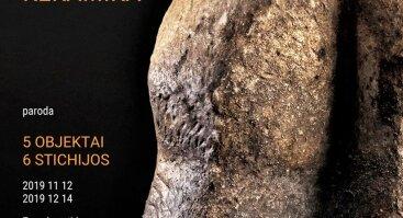 """Beatričės Kelerienės anagamos keramikos paroda """"5 objektai 6 stichijos"""""""