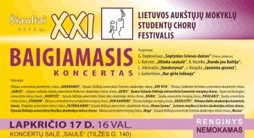 XXI Lietuvos aukštųjų mokyklų studentų chorų festivalio baigiamasis koncertas
