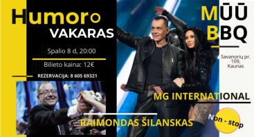 Humoro vakaras su R. Šilansku ir grupe Mg International