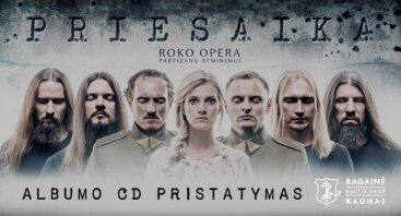 """Albumo """"Priesaika"""" CD pristatymas"""