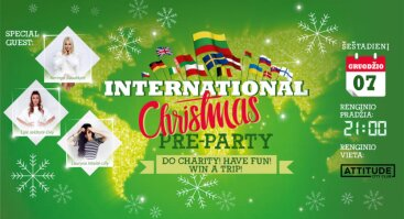 International Christmas travel pre-party. Do charity! Have fun! Win a trip!