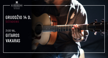 Gyvos gitaros muzikos vakaras