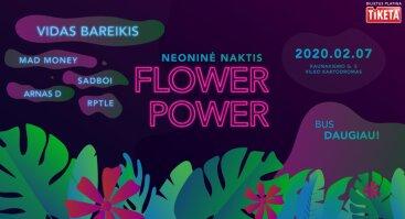 Neoninė naktis Flower Power