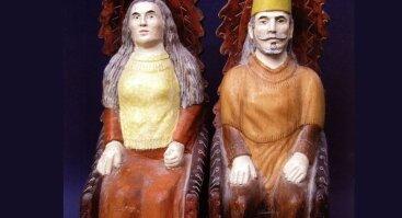"""Tautodailininko Alfonso Skiesgilo skulptūros paroda """"Mediniai stebuklai"""", skirta 100-osioms gimimo metinėms"""
