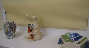 """Keramikos darbų paroda """"Laukiam švenčių"""""""