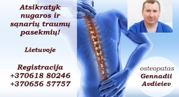 Atsikratyk nugaros ir sąnarių traumų pasekmių!
