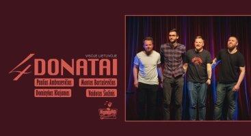 Humoro klubas Kėdainiuose su programa 4 Donatai
