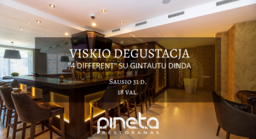 "Viskio degustacija ""4 DIFFERENT"" su Gintautu Dinda"