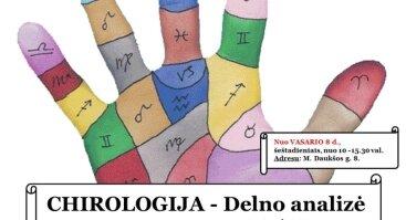 Chirologija / DELNO Analizė 8-ių paskaitų ciklas | Kaunas