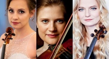 Baltijos šalių orkestrų festivalis: trys smuikai