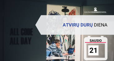 Atvirų DURŲ diena Kaunas Coding School