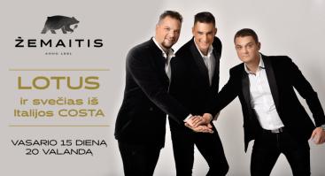 """Muzikinis vakaras su grupe """"Lotus"""" ir svečiu iš Italijos Costa"""