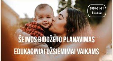 """Seminaras tėvams ir ,,Žiemos pasaka"""" vaikams"""