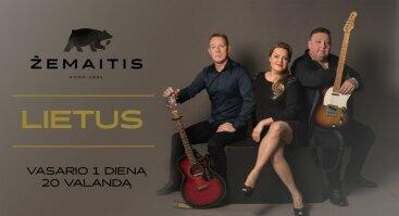 """Gyvos muzikos vakaras su grupe """"Lietus"""""""