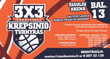 3x3 krepšinio turnyras Šiaulių arena