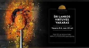 Šri Lankos skonių vakaras HARMONY PARK